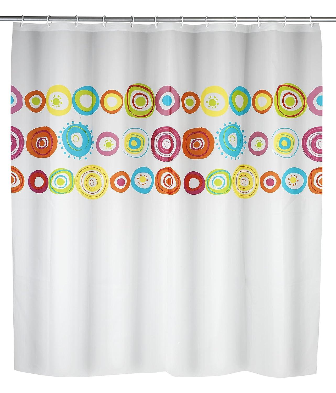Tenda per Doccia Multicolore 18x3.5x37.5 cm Poliestere Wenko