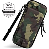 Slim Carrying Case Fit for Nintendo Switch, tomtoc Original Patent Portable Hard Shell Travel Case Pouch Protective Cover Bag, 10 Game Cartridges, Military Level Protection, Camouflage