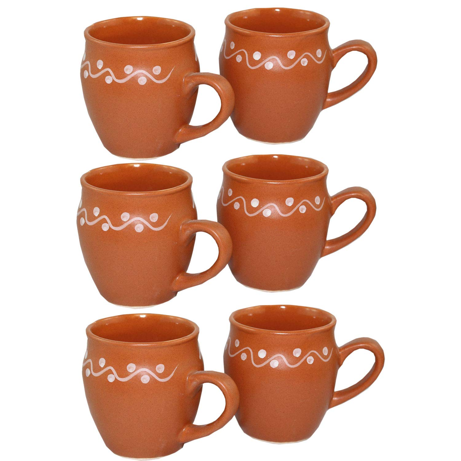 Odishabazaar Kulhar Kulhad Cups Traditional Indian Chai Tea Cup Set of 6 (5.4 oz)
