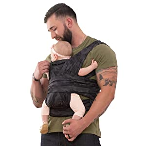 Boppy Comfyfit Baby Carrier, Black Gray Camo