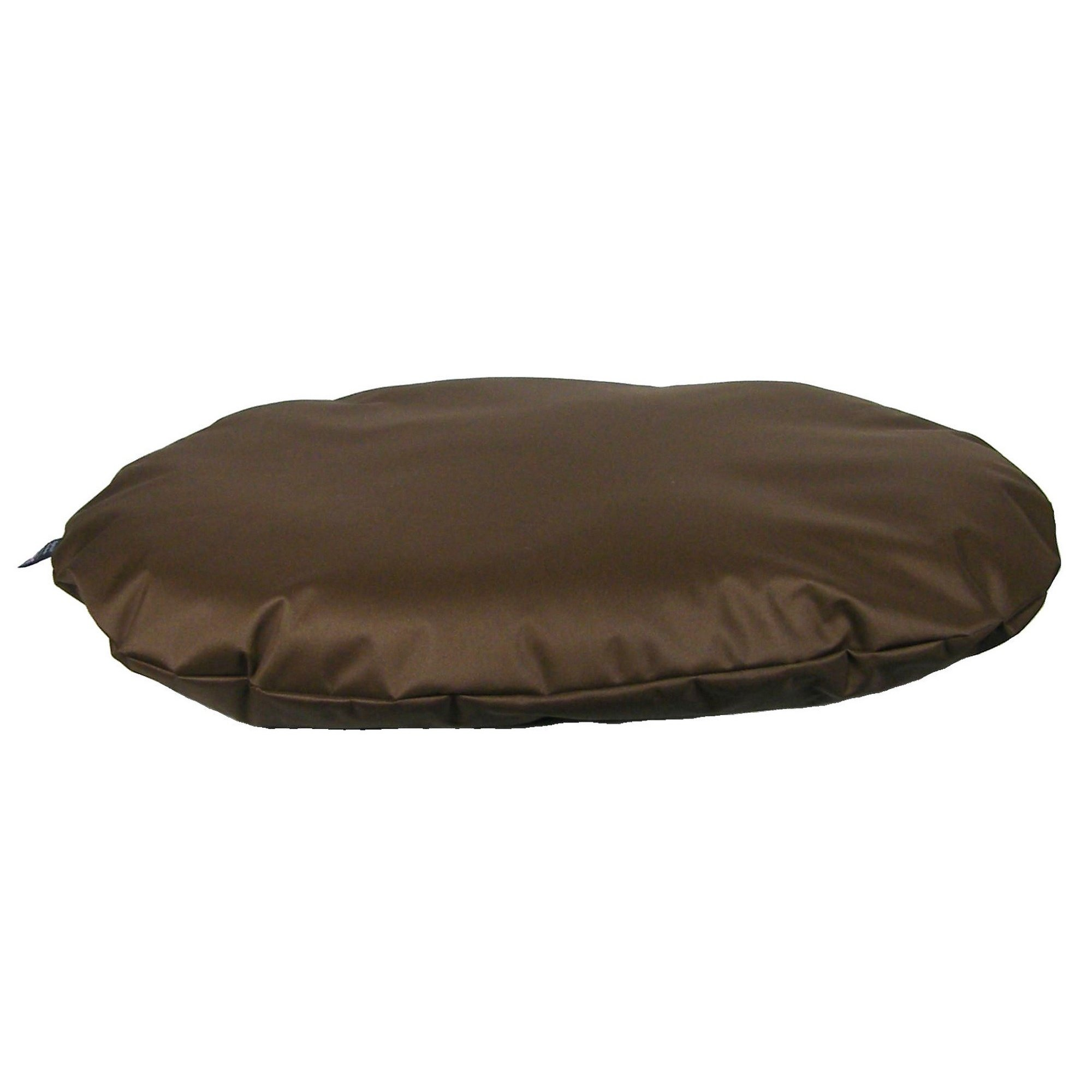 P&L Superior Country Dog Heavy Duty Waterproof Dog Oval Cushion (Medium) (Brown)