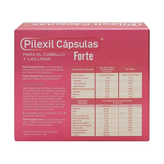 Amazon.com : Pilexil Forte Hair Loss 2 x 100 Capsules - Hair Regrowth Treatment - Fight Alopecia - Get Stronger Nails : Beauty
