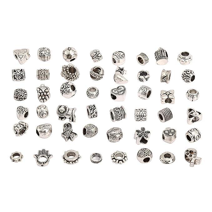 2 opinioni per RKC, charms, a scelta fra 5 e 100 pezzi misti, colore argento anticato placcato