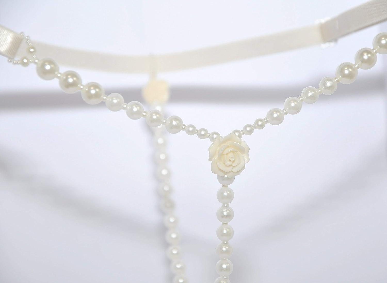 Amazon.com: Ivory erotic Pearl G-string Tanga Bridal crotchless sexy  lingerie Wedding jewelry Beaded thong micro panties: Handmade