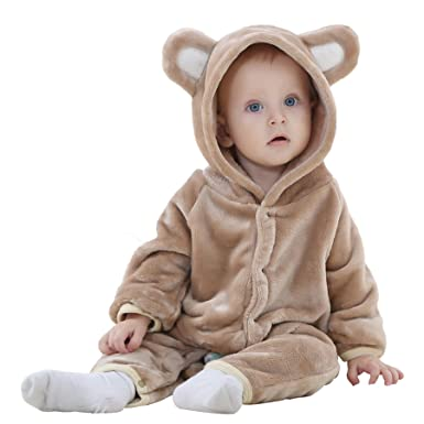 e57691a44a3c Amazon.com  Borje Baby Girls Boys Romper Bear Style Jumpsuit Autumn ...