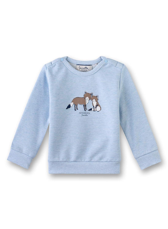 Blau Sanetta Baby-Jungen fiftyseven Sweatjacke Herstellergr/ö/ße: 086 86 Deep Blue 5993