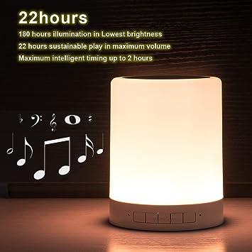 Amazon.com: LED Touch Lamp speaker, Night Light Portable Bluetooth ...