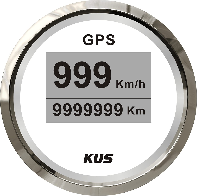 Kus Digital GPS Tacho Gauge 0– 999 Knoten fü r Boot Yacht 52 mm (5, 1 cm) SPR