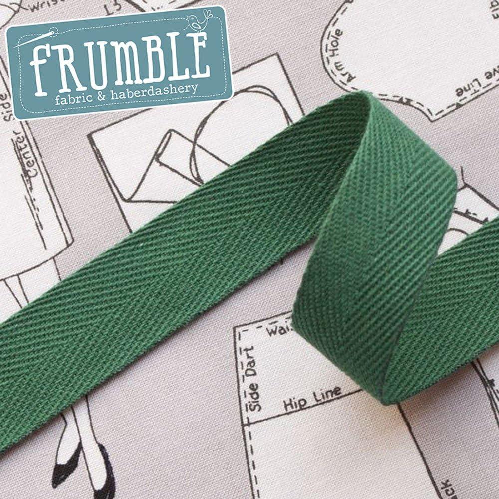 20 mm color verde Herringbone cinta rollo de 5 m – Asa bolsa ...