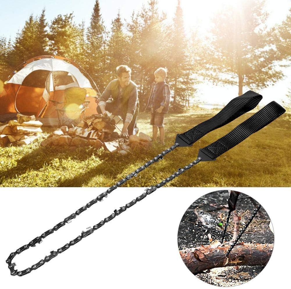 Alomejor Sierra De Cadena De Bolsillo Manual Plegable Exterior para Camping Senderismo Supervivencia