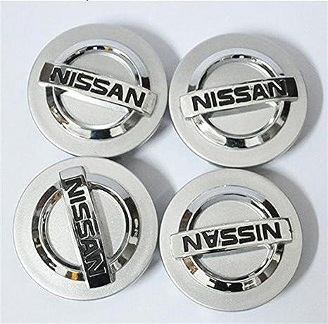 guoyuanzed 4 tapacubos centrales DE 60 mm para Nissan Aeolus Primera Altima MICRA Note Qashqai