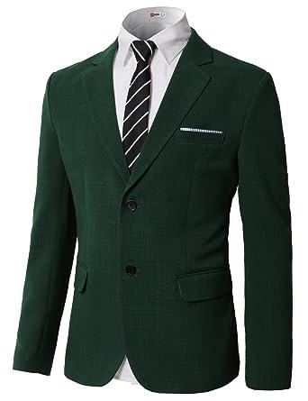 c4aaf2433 H2H Mens Classic Slim Fit Business Dress Suit Jacket Wedding Blazers Green  US S/Asia