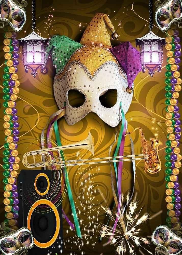 GladsBuy Shining Mask Decoration 10 x 10 Computer Printed Photography Backdrop Halloween Theme Background LMG-452