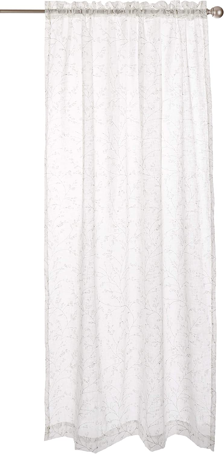 "LORRAINE HOME FASHIONS, Ecru, Willow Window Curtain Panel, 54"" x 84"""