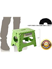11 Inch Non Slip Folding Step Stool For Kids And Adults With Anti Slip Pads,