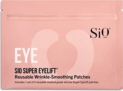 SiO Beauty Super EyeLift | Eye Anti-Wrinkle Patches 2 Week Supply | Overnight Smoothing Silicone Patches For Eye & Brow Wrinkles