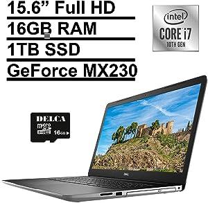 "2020 Dell Inspiron 17 3793 Business Laptop | 17.3"" Full HD | 10th Gen Intel Core i7-1065G7 | 16GB RAM 1TB SSD | GeForce MX230 | Maxx Audio Win 10 Pro + Delca 16GB SD Card"