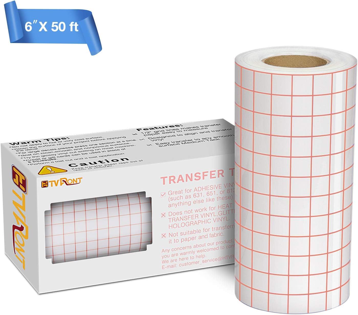 "Vinyl Ease 12/"" x 100 ft Roll Paper Transfer Tape for Cricut O Silhouette Cameo"