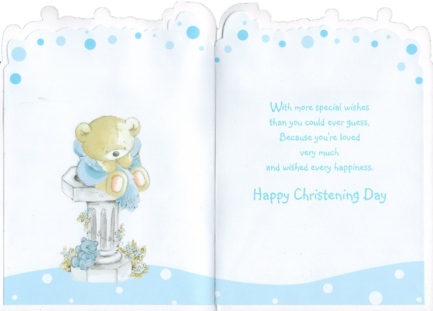 Grandson christening card christening to a wonderful grandson grandson christening card christening to a wonderful grandson on your special day amazon garden outdoors kristyandbryce Choice Image