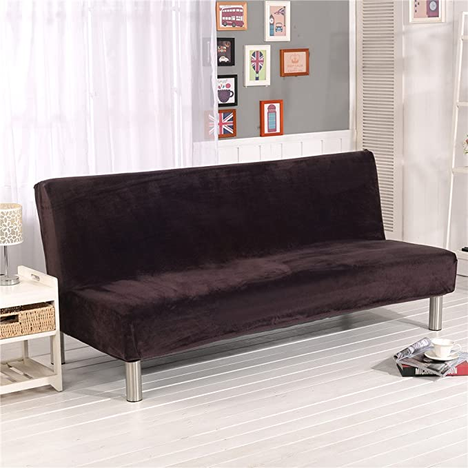 Terrific Solid Color Armless Sofa Bed Cover Sofa Bed Cover Futon Slipcover Solid Color Full Folding Elastic Armless Slipcovers Couch Protector Uwap Interior Chair Design Uwaporg