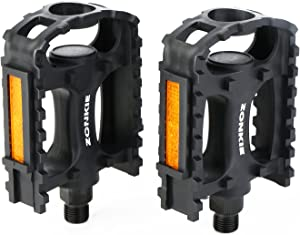 zonkie Mountain Bicycle Pedals, Resin Pedal, 9/16 Inch