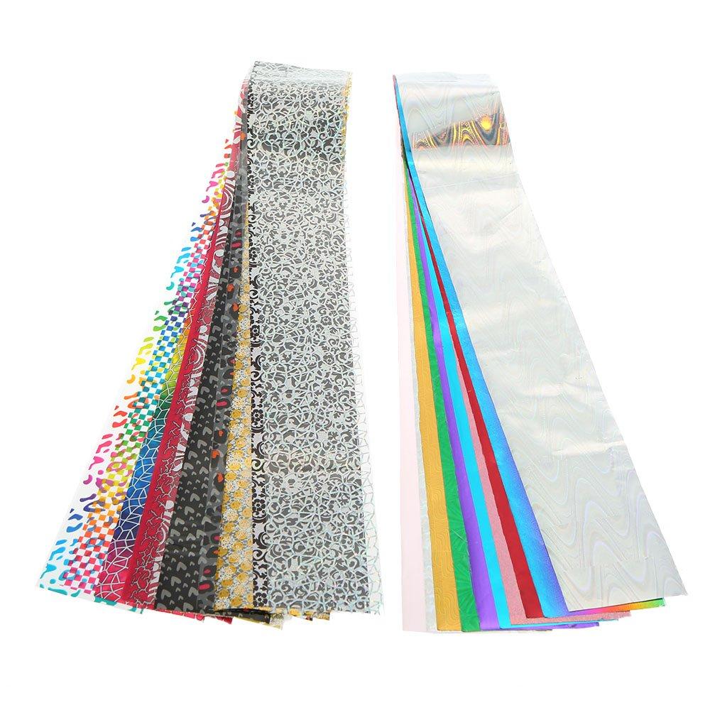 Anself 30 Color DIY Nail Sticker Nail Art Transfer Foils Sticker