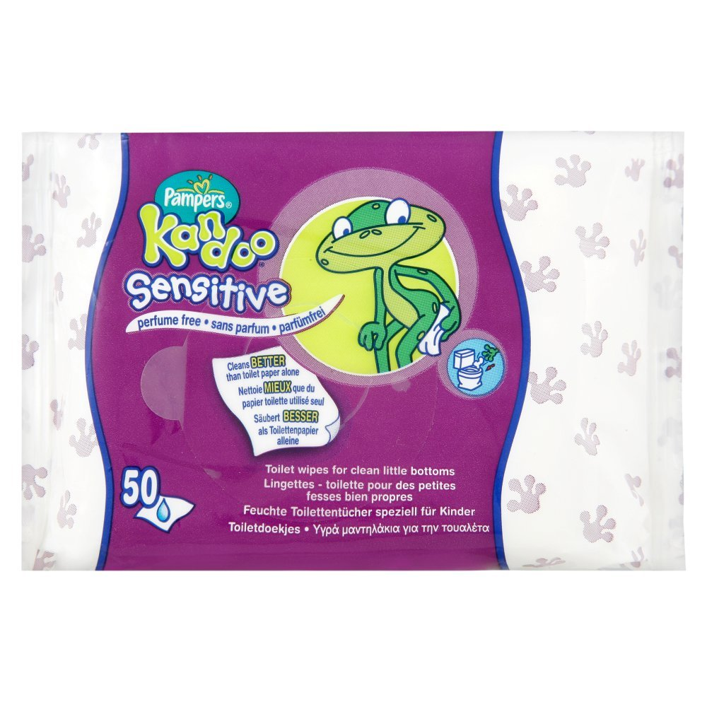 Pampers Kandoo Wipes Refill Sensitive 6 x 50 Wipes (300 Wipes) B003QUGANM