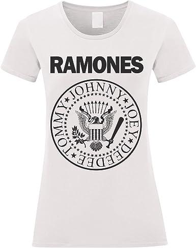 LaMAGLIERIA Camiseta Mujer Ramones - Camiseta 100% Algodon: Amazon ...