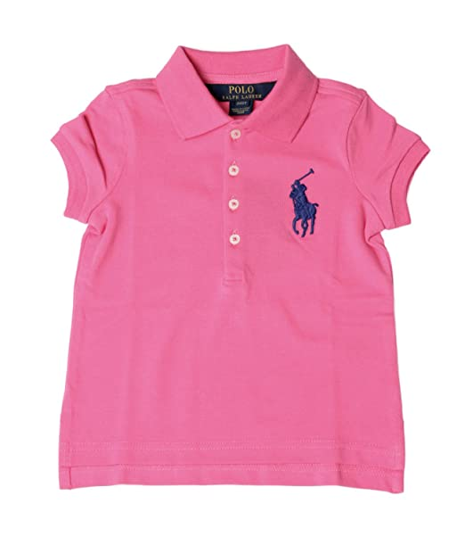 672b87705 Ralph Lauren Childrenswear Polo Bambino Kids Girl Polo Big Pony in piqué  Stretch MOD. S10XZ1L2 3T  Amazon.it  Abbigliamento