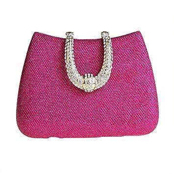 26b9e7e8ec Women Rhinestone Evening Bag Cocktail Wedding Bag for Women Luxury Crystal  Clutch Women Rhinestone Evening Party (Color : Pink, Size : Free Size): ...