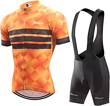 New Cycling Jersey 2019 Men Bike Set Quick Dry Short Sleeve 3D Padded Bib shorts