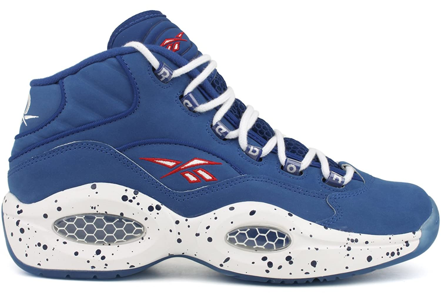 reebok shoes men red white blue