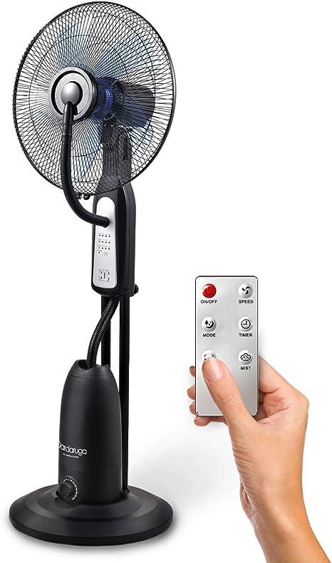 Ventilador digital Dardaruga con nebulizador de agua, función de ...
