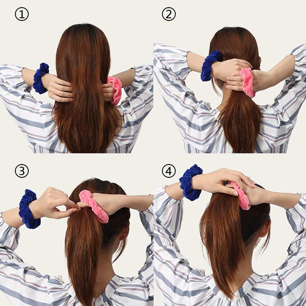 ☄Newdiva 36Pcs Premium Hair Scrunchies Womens Chiffon Flower Hair Bow