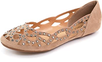 38a1f4992d148 Luo Luo Womens Dora Ballet Flats