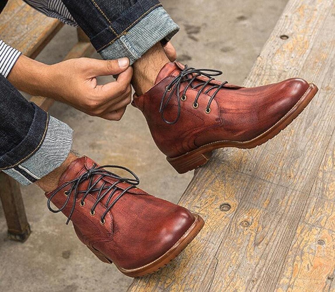 GTYMFH Herbst Männer Schuhe Leder Lässig Martin Stiefel Retro Lederstiefel Lederstiefel Lederstiefel f3372c