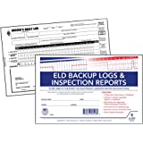 ELD Backup Driver Log Book 10-pk. with Detailed Driver Vehicle Inspection Report & Daily Recap - Book Format