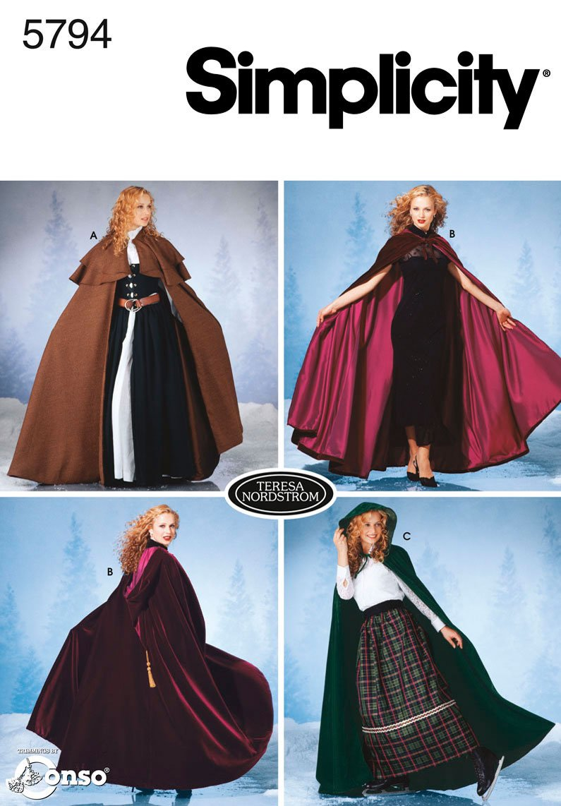 Steampunk Sewing Patterns- Dresses, Coats, Plus Sizes, Men's Patterns Simplicity Sewing Pattern 5794 Misses Costumes A (XS-S-M-L) $7.80 AT vintagedancer.com
