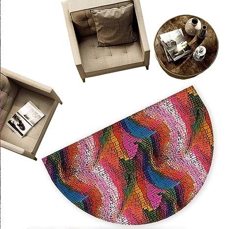 Amazon.com: Moderno cojín semicircular abstracto elefante ...