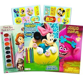 Amazon Disney 塗り絵帳特別2冊セット ステッカー付き ミニーマウス