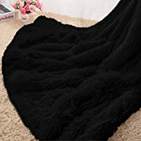 Homore Soft Fluffy Blanket Fuzzy Sherpa Plush Cozy Faux Fur Throw Blankets for Bed Couch Sofa Chair Decorative, 50''x60…