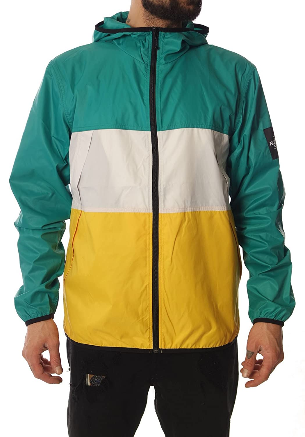 The North Face Herren Triblock Wind Jacket Teal Blue günstig