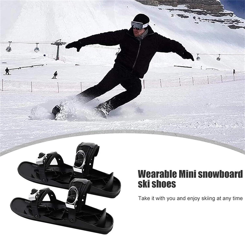 Jobewnipz Mini Ski Skates f/ür Snow The Short Skiboard Snowblades,Leichte und leicht zu tragende Ski,Ideale Ausr/üstung zum Skifahren im Winter,Schwarz