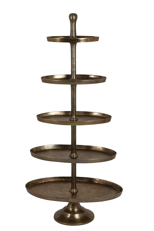 Riesige Etagere 170cm H/öhe vernickelt Bronze Gold Geb/äckschale