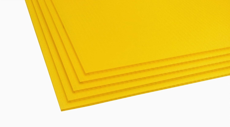 24x18x4mm., 5-pack//yellow TSM Coroplast Correx Poster Corrugated Plastics Sheets Sign Blank Board
