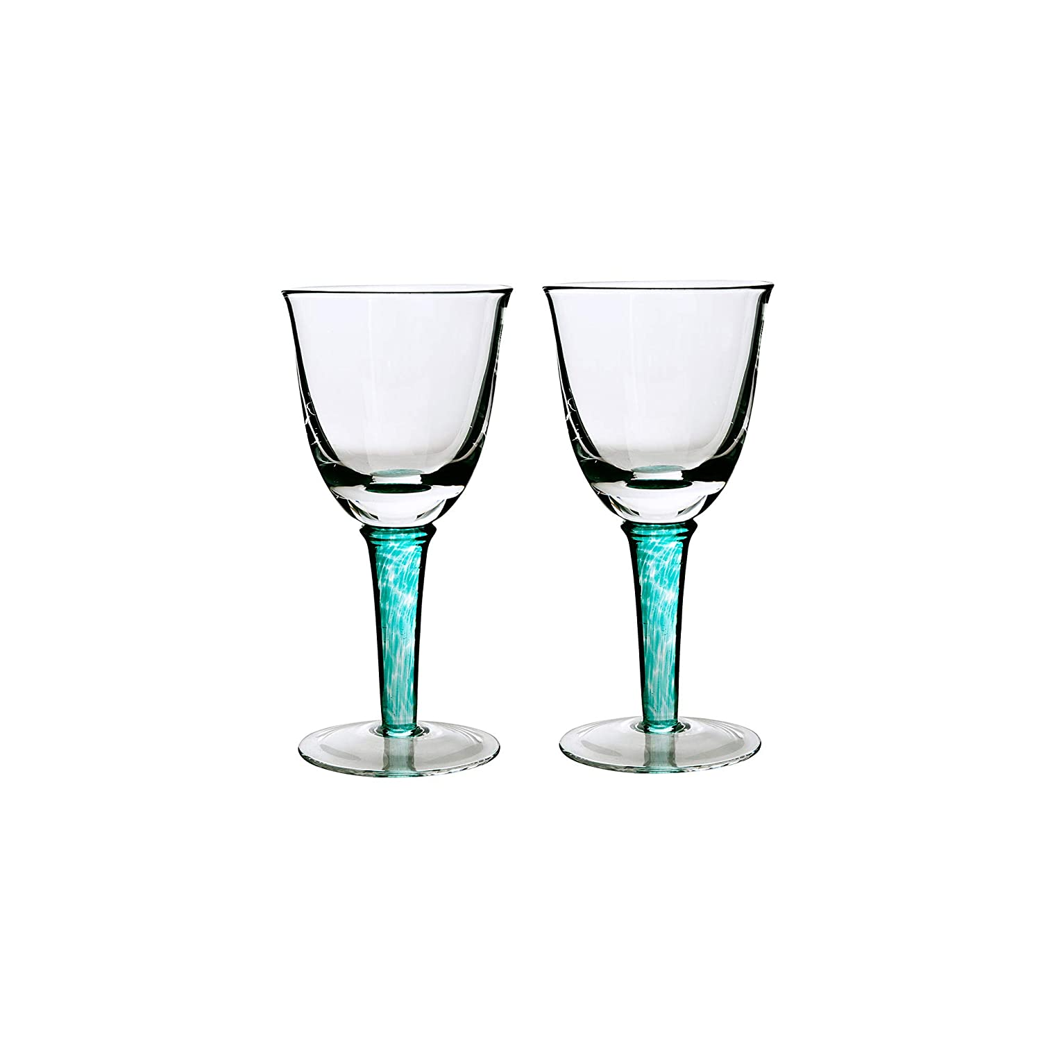 06e05ea3088 Denby Greenwich/Regency Green Red Wine Glass - Set of 2