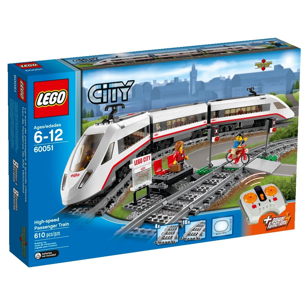 Lego City Trains High-Speed Passenger Train 60051 Building Toy 20
