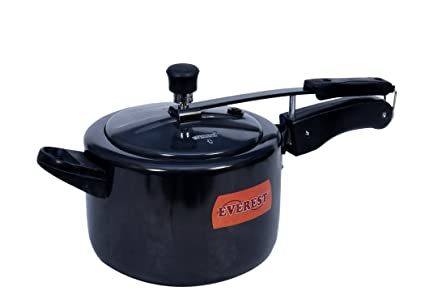 Everest Hard Anodised Inner lid DUAL BASE(Induction & gas compatible) Pressure cooker,Model: HA-Classic (7 Liters)