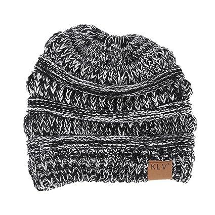 699c1db218f Amazon.com  Jinjiu Women Solid Color Warm Winter Wool Knitted ...