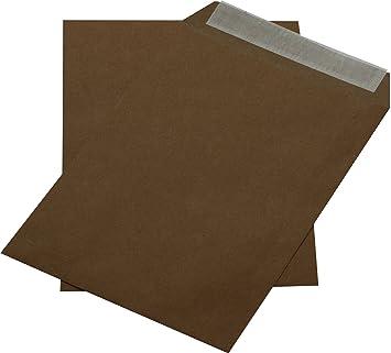 50 C5 Braun Versandtaschen Umschläge Briefumschläge 162 x 229 mm selbstklebend